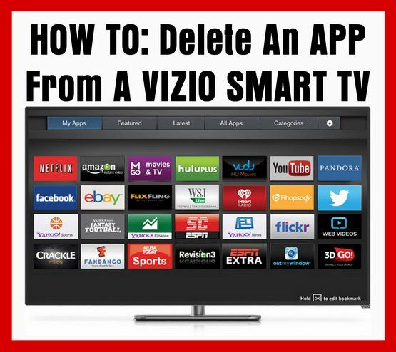 How To Delete An APP From A VIZIO SMART TV