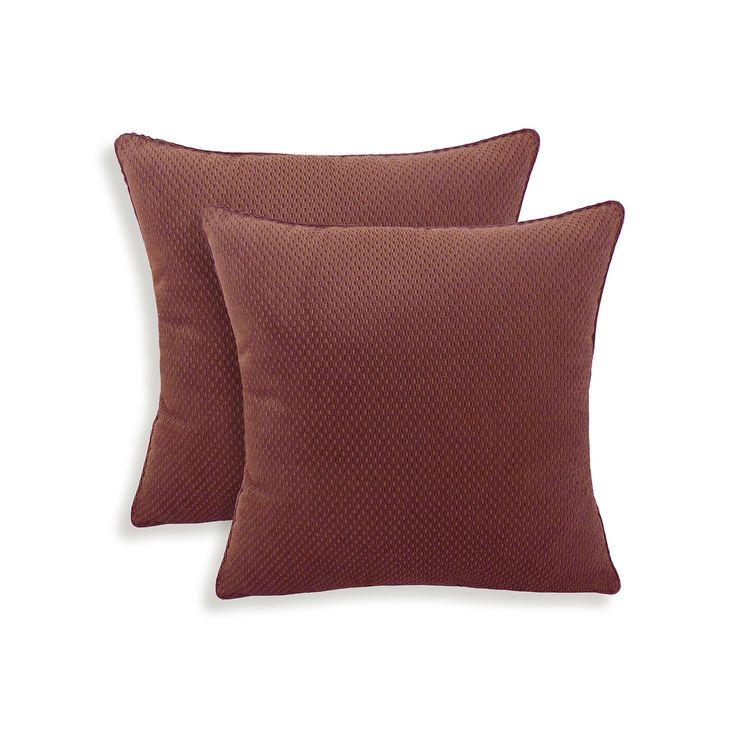 Convex 2-piece Textured Woven Throw Pillow Set, Other Clrs