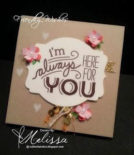 Stampin' Up! Friendly Wishes by Melissa Davies @rubberfunatics  #rubberfunatics #stampinup
