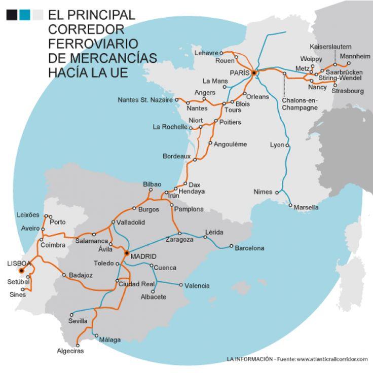 El gestor ferroviario maniobra para adaptar el tramo ibérico del Corredor Atlántico, que transporta la mitad de las mercancías entre España y la UE