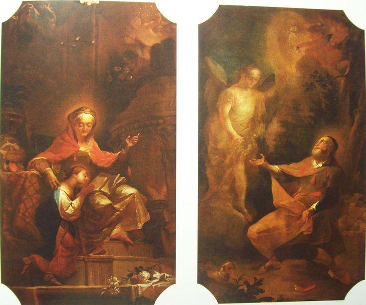 Josef Winterhalder ml. Vzdělávání Panny Marie, Zvěstování Joachimovi 1782 Boční oltáře v kostele v Zábrdovicích