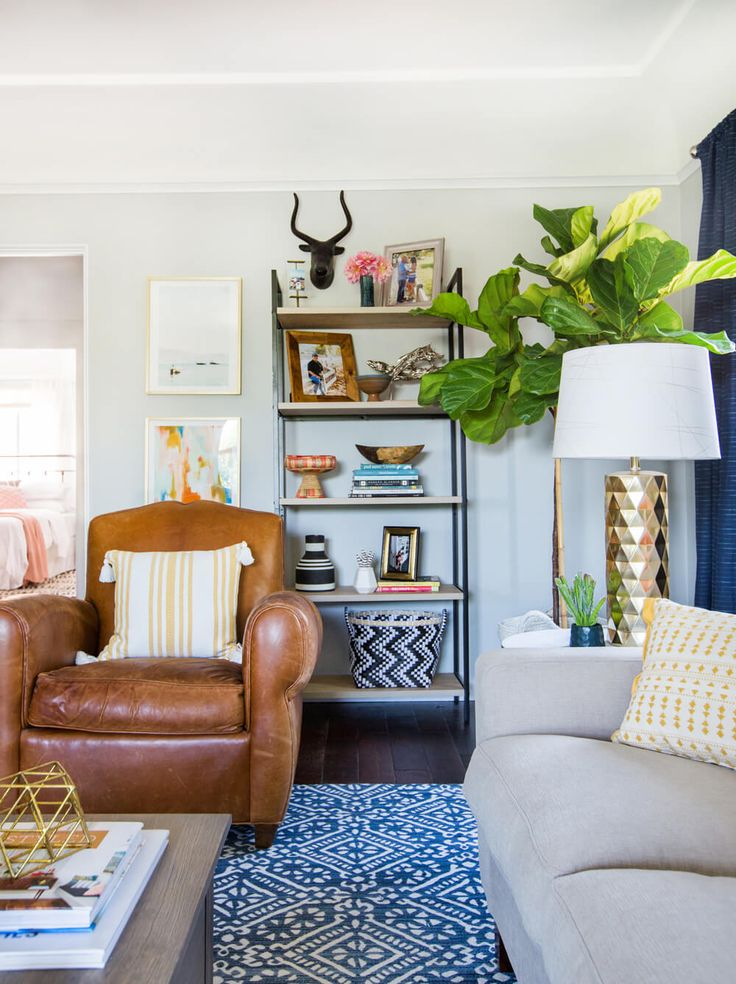 Emily Henderson_Target_Makeover_Nanny Suprise_Happy_Modern_Traditional_Eclectic_Makeover_Blue_Pink_Living Room_1