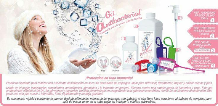 Desinfeccion en seco, desinfecta, limpia y cuida manos y pies. Elimina el 99.9% de gérmenes y bacterias.