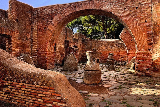 Ostia Antica, look at the magnificent brick  arch.