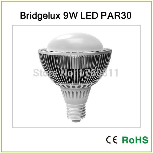 Дешевое Бесплатная доставка номинальной из светодиодов par30 9 Вт par 30 из светодиодов лампа из светодиодов прожектор лампы, Купить Качество Промышленное освещение непосредственно из китайских фирмах-поставщиках:   9 Вт PAR30 Светодиодный прожектор,  Bridgelux,  Высокая эффективность,  Для Downlight,  Потолочный светильник,  Ювелир