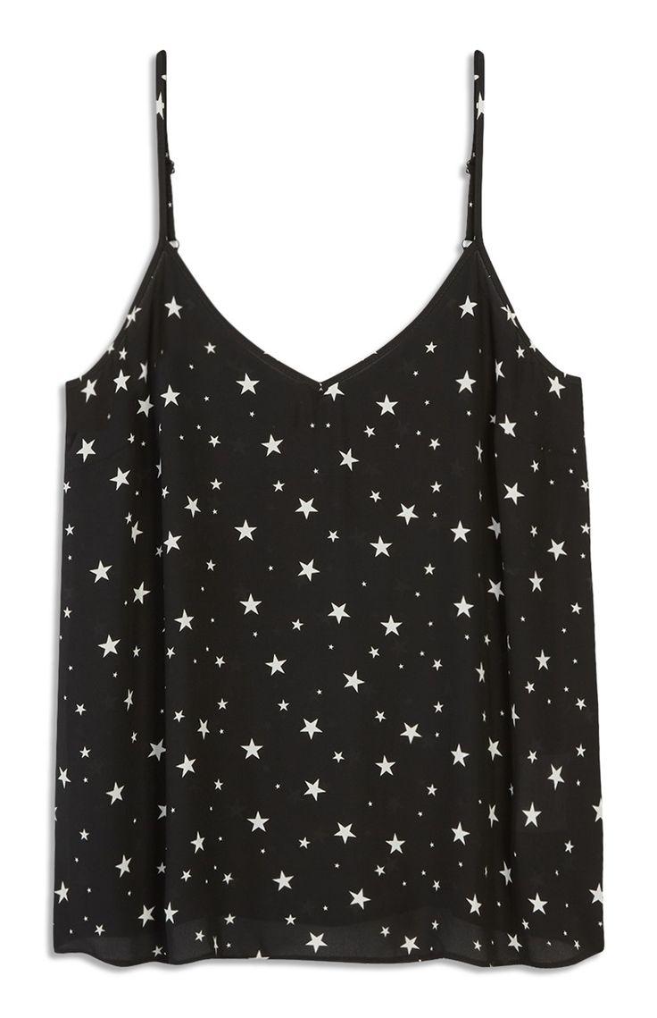 Zwart topje met sterren