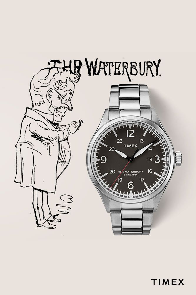 644a6e62b Waterbury Traditional 40mm Stainless Steel Watch | Everyday ...