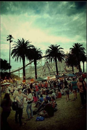 St. Kilda Beach Melbourne Victoria Australia Night Market (Luna Park in background) By Hellblazer! John Raptis
