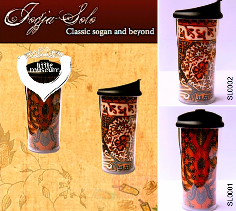 Classic sogan and beyond! Real batik fabric from Jogja/Solo - Indonesia on the tube of quality tumbler!