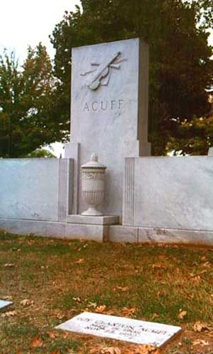 Roy Acuff (1903 - 1992) Country Music Singer. A native of Maynardsville, Tennessee, he sold more records in the 1930s and 1940s than any country music star.Inducted into the Country Music Hall of Fame in 1962