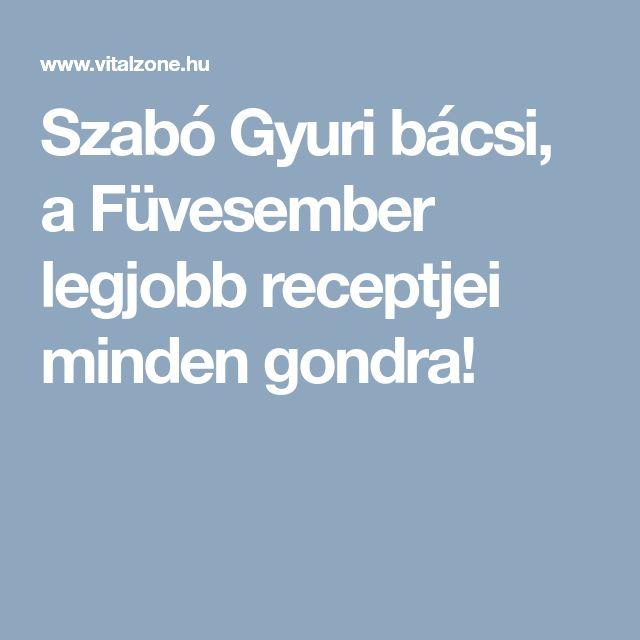 Szabó Gyuri bácsi, a Füvesember legjobb receptjei minden gondra!