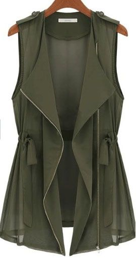 Olive  #vest #chaleco #fashion #look