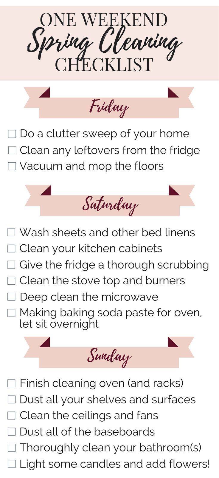 best ideas about house cleaning checklist how to spring clean in a weekend