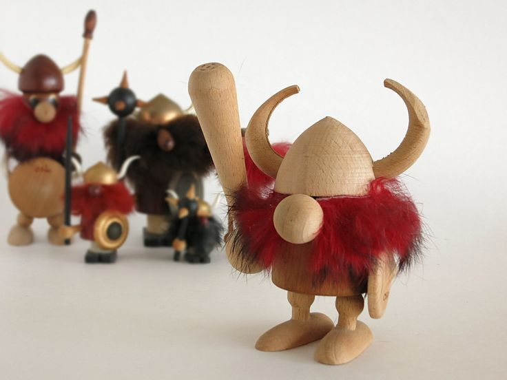 Vintage Teak Viking Figurine - Scandinavian Decor - Oslo Norway Souvenir Viking  - Mid Century Danish Modern Wood Viking Figurine- Noggin at Eight Mile Vintage on Etsy