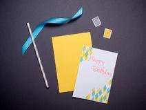 Geburtstagskarte, Happy Birthday