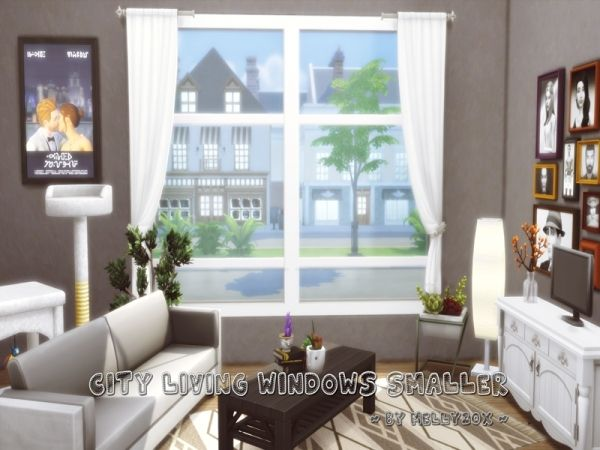 City Living Windows Smaller The Sims 4 Download Simsdom Sims 4 Windows Sims Sims 4 Custom Content