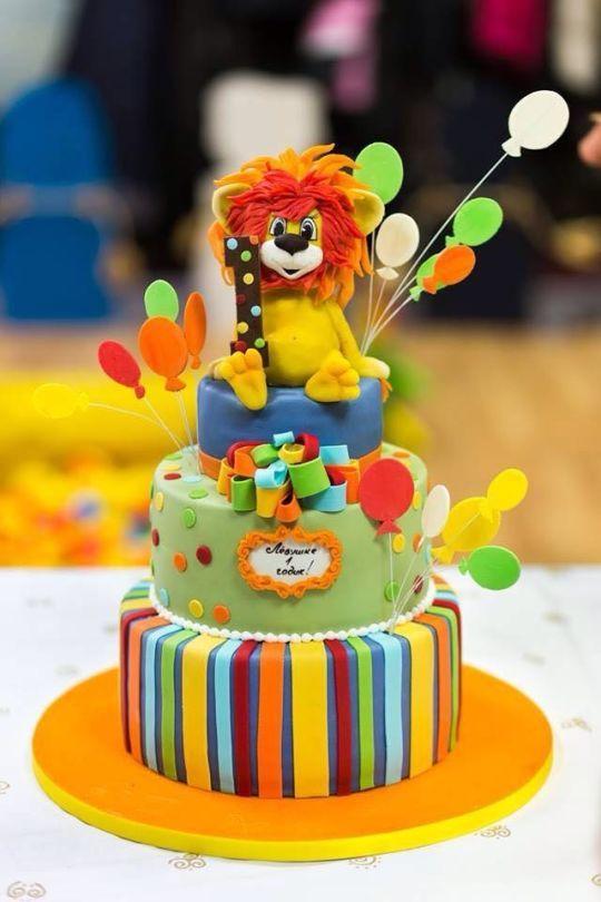Best Lion Cakes Images On Pinterest Lion Cakes Animal Cakes - Lion birthday cake design