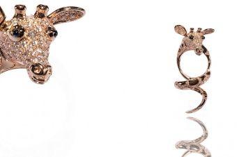 Gismondi Jewellery 1754 Giraffe twirl ring in rose gold