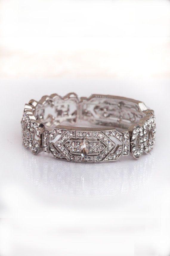 vintage wedding bracelet, vintage inspired, art deco wedding bracelet, The Great Gatsby inspired bracelet #2