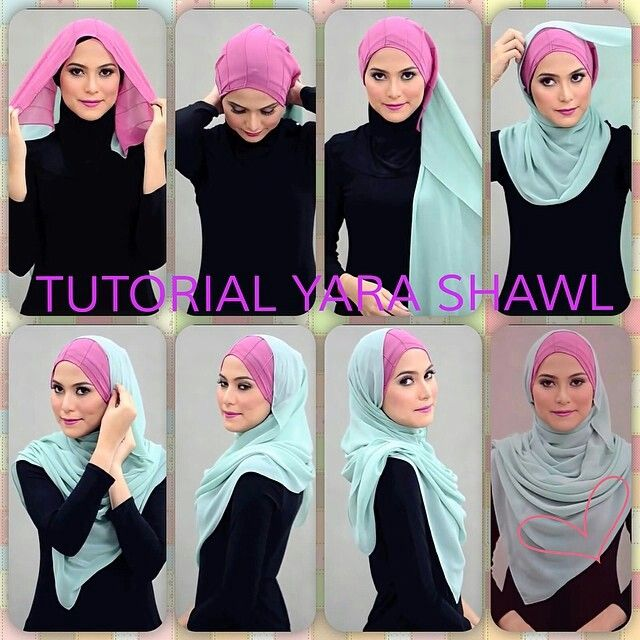 Shawl tutorial By :Al Humairah Contemporary, Malaysia.