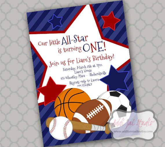 Top 30 Ideas About Bowman's 2nd Birthday Sports Theme On
