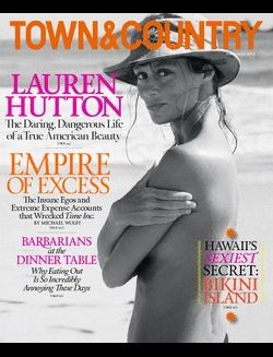 Lauren Hutton looking fabulous l Town June-July cover