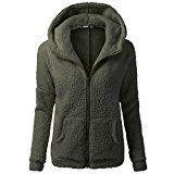 Amazon Angebote YunYoud Damen Große Größe Jacke Frau Einfarbig Mit Kapuze Sweater Lange Ärmel Warm Mantel Winter Wolle…%#mode%