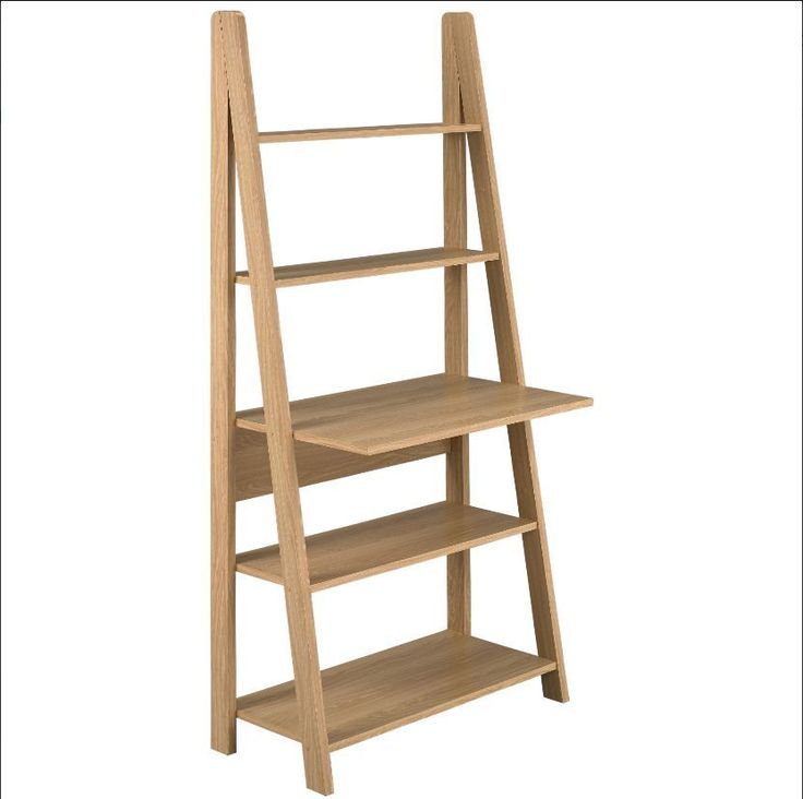 Wooden Desk Top Ladder Desk Computer, A Small TV Books, Economical On Place