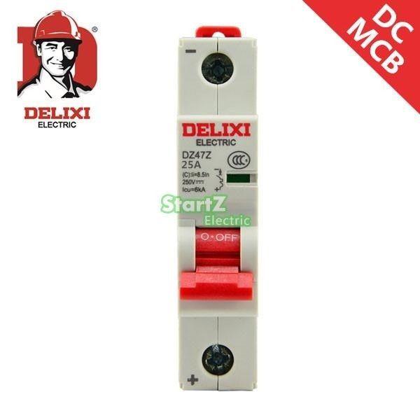 25a 1p 250v Dc Circuit Breaker Dz47z Delixi Mcb Installation Electrique Circuit Electrique