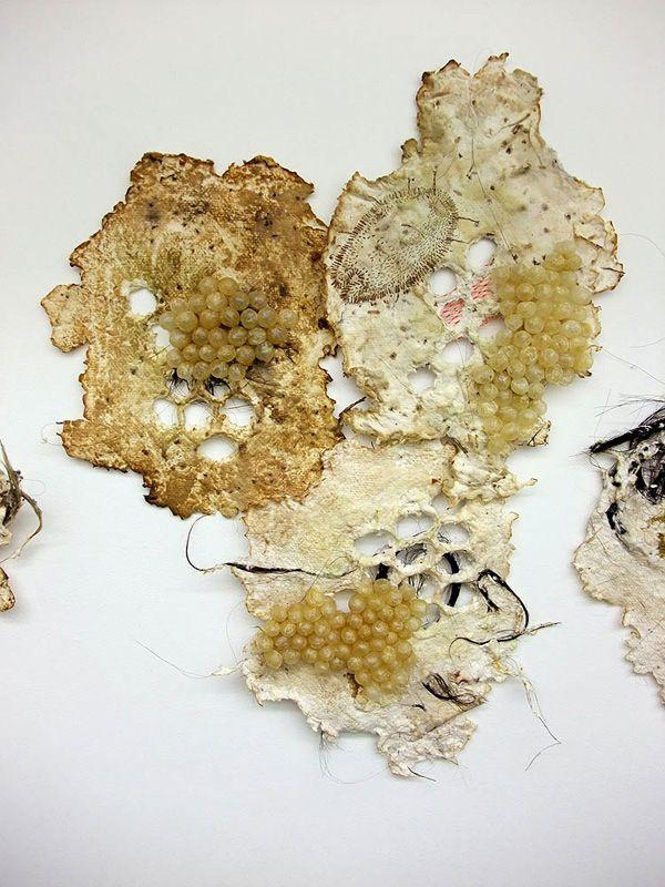 Heather Komus of Winnipeg, Manitoba, Canada | Weekly Artist Fibre Interviews | Fibre Art | International | Canadian | World of Threads Festival | Contemporary Fiber Art Craft Textiles | Oakville Ontario Canada. An even closer detail of 'Gorge and Grow'.