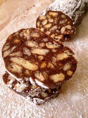 Σαλάμι σοκολάτας ή μωσαϊκό (χωρίς αβγά)
