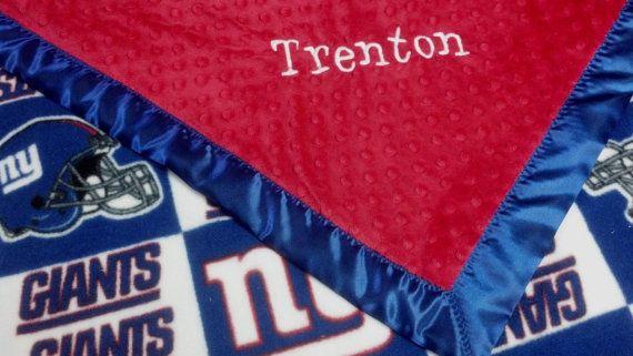 Personalized New York Giants Football Fleece and by TreasuredMinky