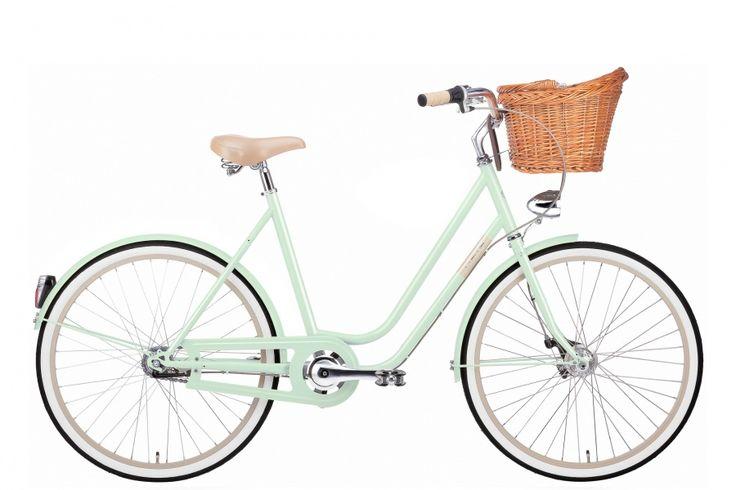 HERREGUD SÅ FIN SYKKEL! (Nå er den på tilbud) Creme sykkel Molly er en flott bysykkel med 3 gir.