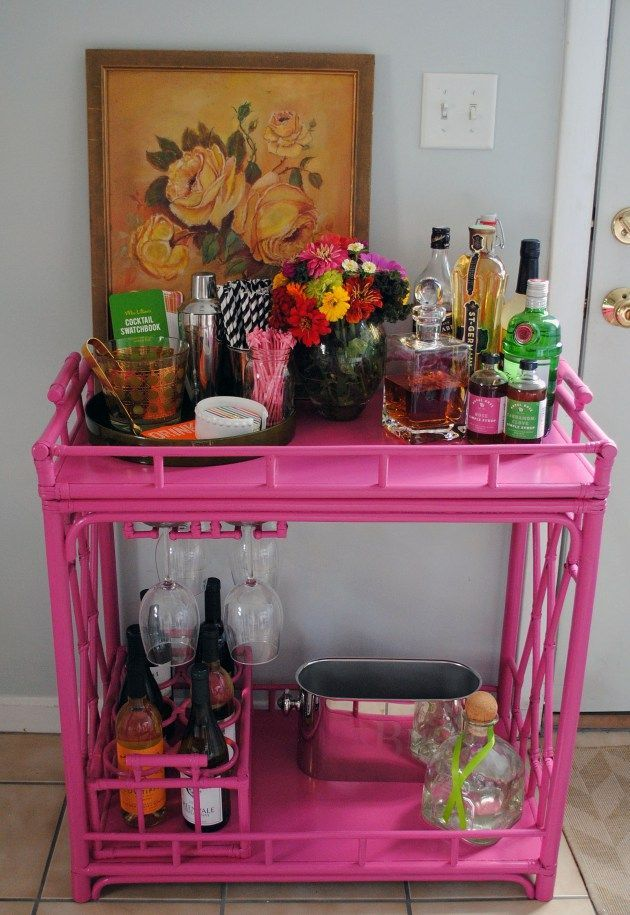 a more girly bar cart