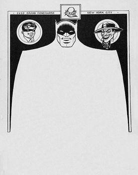 Letterhead of Bob Kane, Batman's creator.