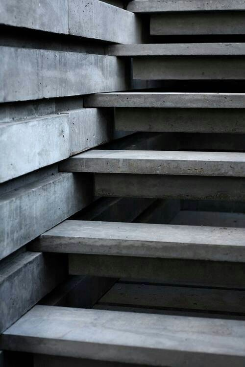 Beautiful  Detail in concrete stair