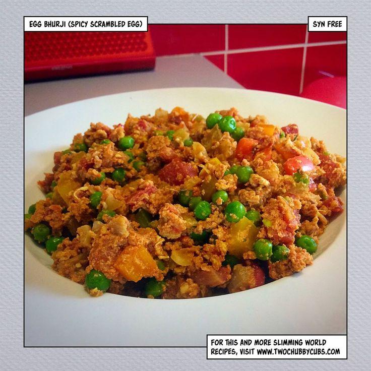 twochubbycubs.com spicy scrambled eggs or egg bhurji syn free breakfast