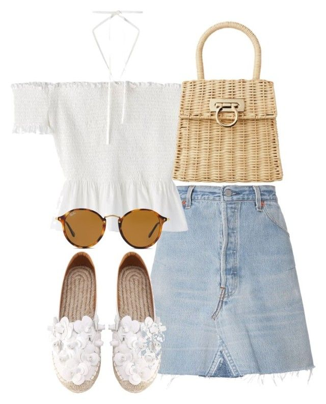 """Untitled #4210"" by theeuropeancloset on Polyvore featuring RE/DONE and Ray-Ban"