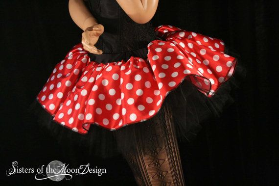 red minnie mouse skirt adult