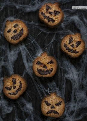 Terroríficos bizcochitos de calabaza y canela. Receta de Halloween