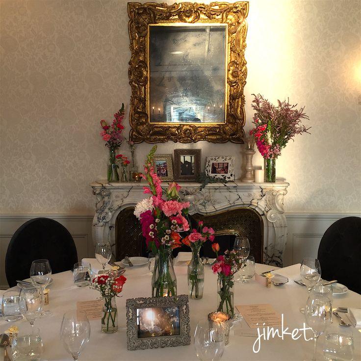 Floral love wedding centerpieces