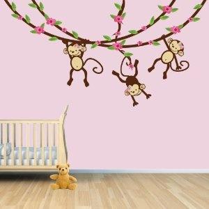 Best MONKEY ROOM Images On Pinterest Monkey Room Monkey - Wall decals kids roomcartoon monkey climbing flower vine wall decals kids room nursery
