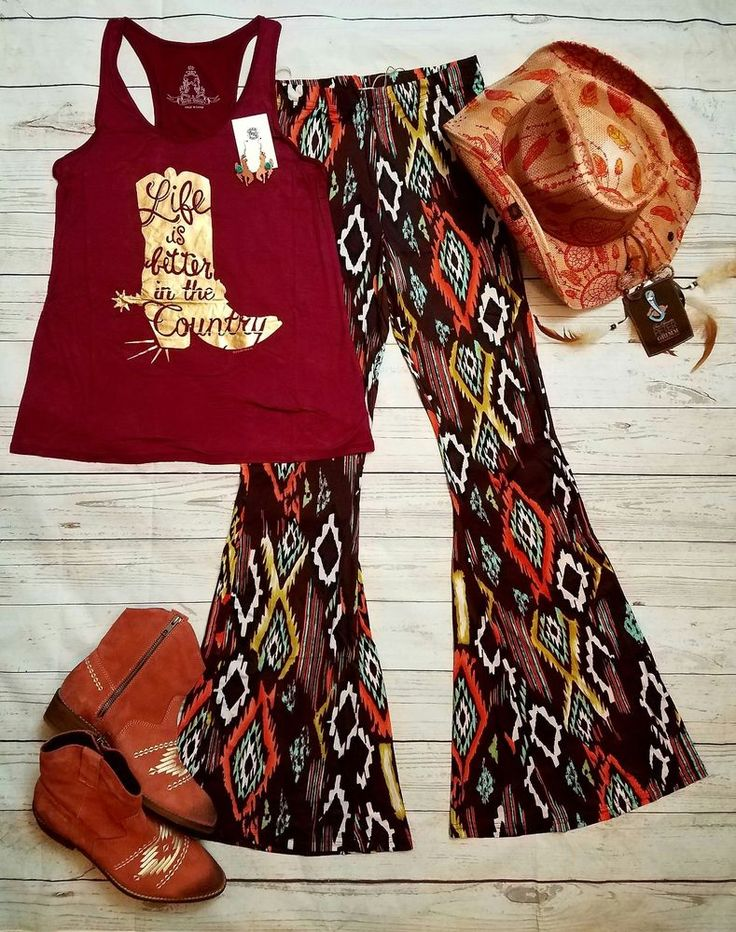 Cowgirl Gypsy AZTEC sOUTHWEST Bells Pants Lounge BELL BOTTOMS 70s fashion M/L #selfiecouture #leggings