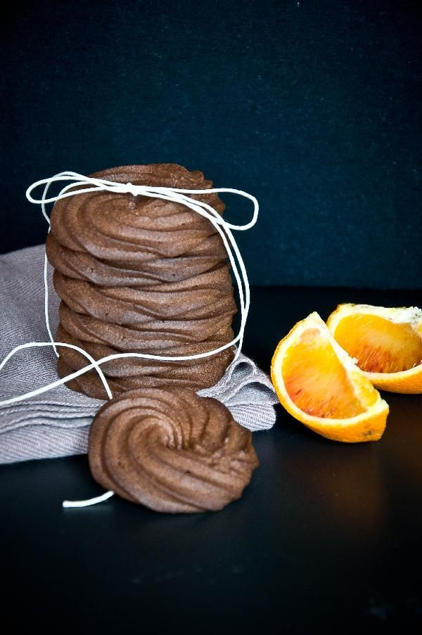 Песочное печенье: какао+апельсин