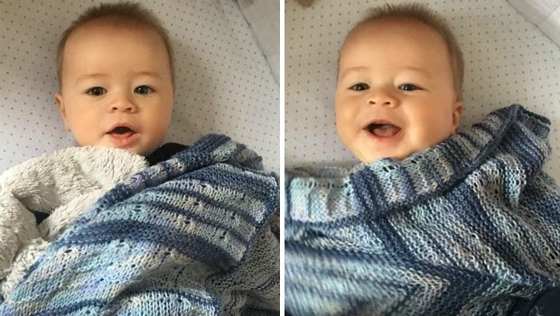 It's ArtYarn's fourth birthday this week, and they're celebrating with a FREE beautiful baby pattern especially for you!  Enjoy!!