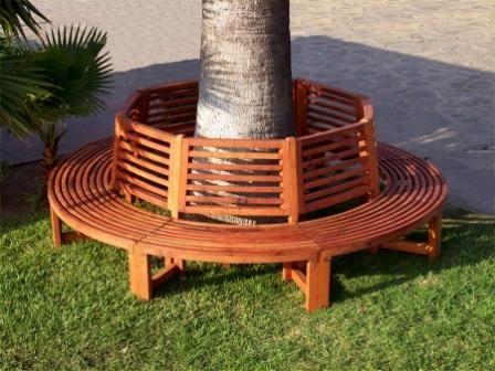 bench around tree trunk