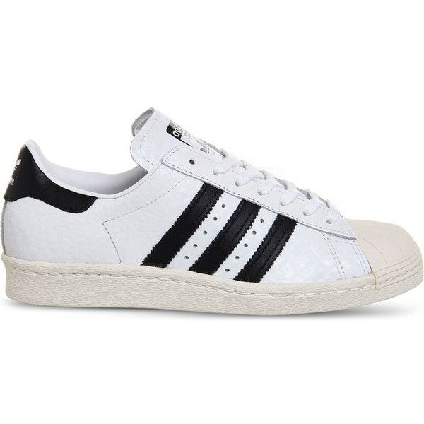 new styles 65de8 e17a0 ... Adidas Superstar 80s textured leather trainers ( 100) ❤ liked on  Polyvore featuring shoes, ...