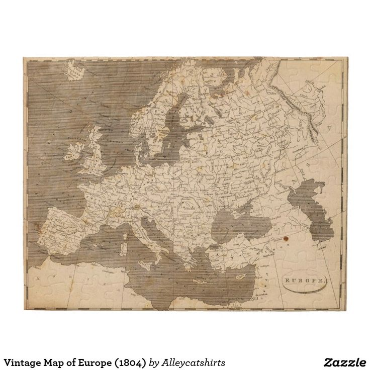 154 best jigsaw puzzles images on pinterest jigsaw puzzles shop vintage map of europe jigsaw puzzle created by alleycatshirts gumiabroncs Image collections