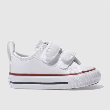 Kids Unisex white & red converse all star 2v Toddler | schuh