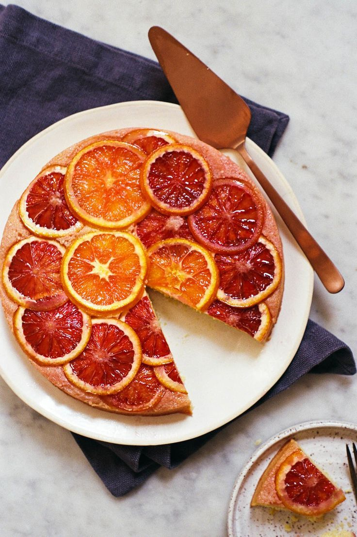Blood Orange, Cornmeal, and Ricotta Cake